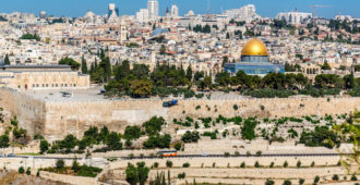 Blick auf Jerusalemer Tempelberg